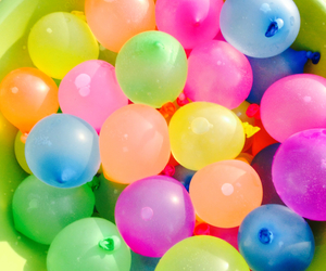balloons, bright, and colors image