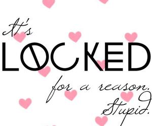 wallpaper, locked, and hearts image