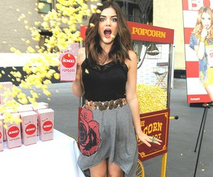 lucy hale, pll, and popcorn image