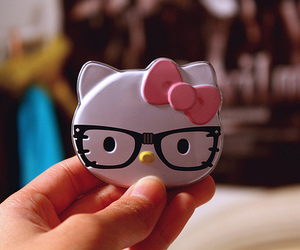hello kitty, glasses, and kitty image