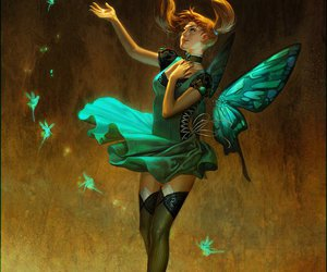 butterfly, digital art, and fantasy image