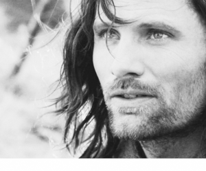 aragorn, black and white, and lord of the rings image