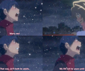 toradora, anime, and love image