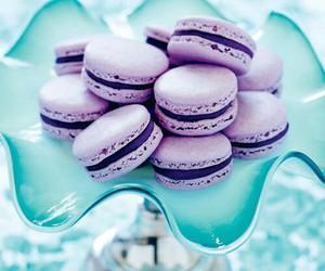 purple, food, and macarons image