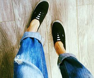 fashion, jeans, and shoe image