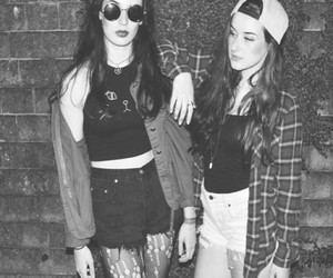 black and white, grunge, and brandy melville image