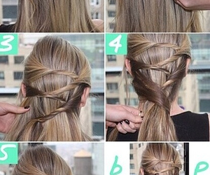hair, tutorial, and blonde image