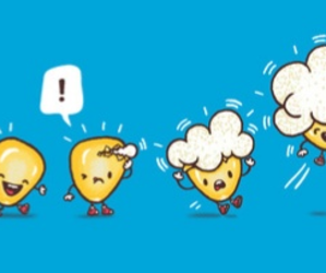 !, comic, and popcorn image