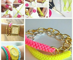 diy, bracelet, and pink image