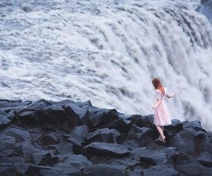 girl, photography, and waterfall image
