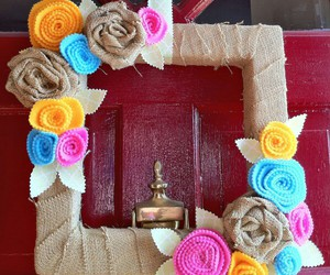 diy, felt, and flower image
