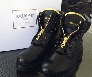 black, Balmain, and boots image