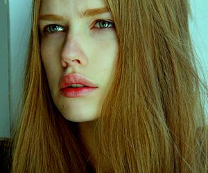 beauty, model, and polaroid image