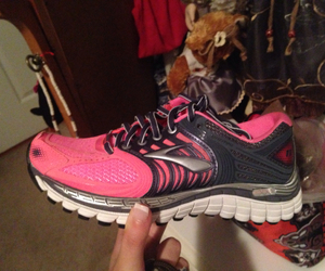 pink, shoes, and run image