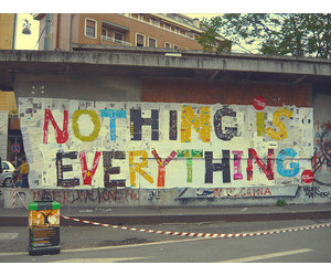 everything, nothing, and text image