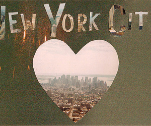 new york, city, and heart image
