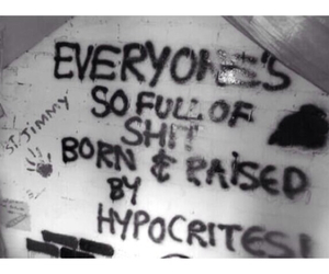 quote, hypocrites, and graffiti image