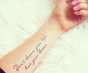 tattoo, Dream, and life image