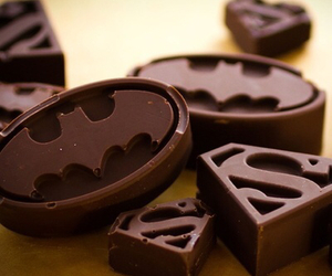 chocolate, batman, and superman image
