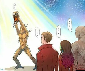 funny, i, and rocket raccoon image