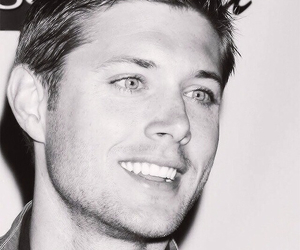 back and white, dean winchester, and eyes image