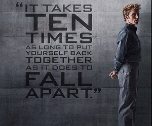 fall apart, mockingjay, and finnick odair image