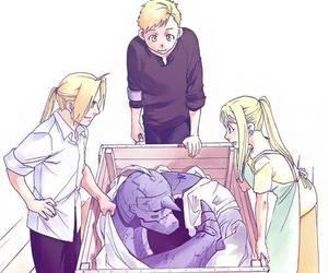 winry rockbell, manga, and fullmetal alchemist image
