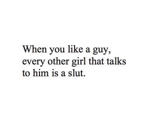 slut, girl, and love image