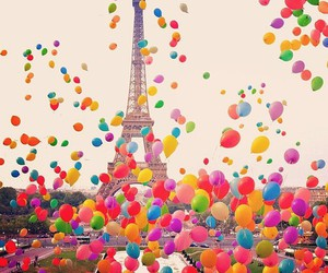 balloons, beautiful, and colors image