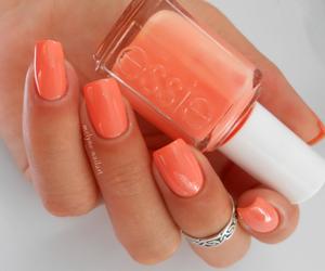 nails, essie, and orange image