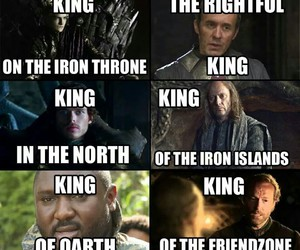 game of thrones, king, and friendzone image