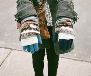 gloves, winter, and photography image