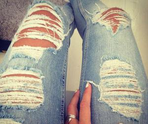 jeans, fashion, and nails image