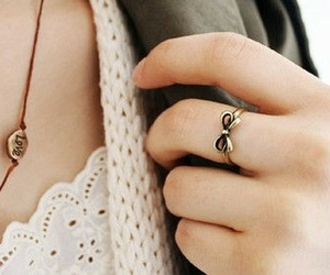 fashion, ring, and bow image
