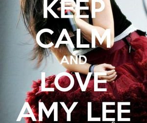 amy lee, evanescence, and keep calm image