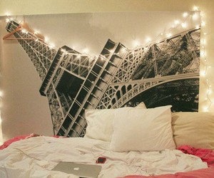 bed, bedroom, and paris image