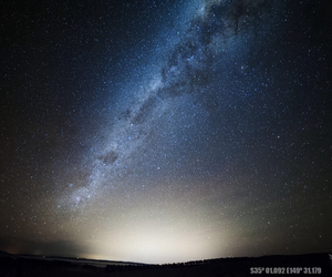 milky way, night sky, and canberra image