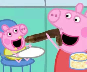 funny, wtf, and peppa image