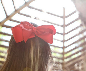 bow, girl, and red image