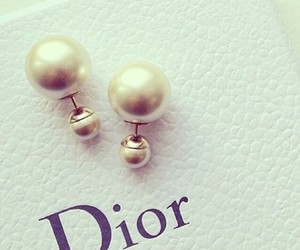 earrings, dior, and fashion image