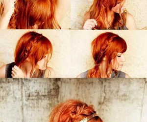 cheveux, coiffure, and roux image