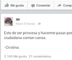facebook, frases, and princesa image