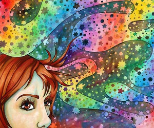 colourful, drawing, and dreams image