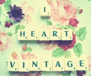 vintage, flowers, and heart image