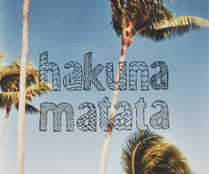 hakuna matata, summer, and beach image