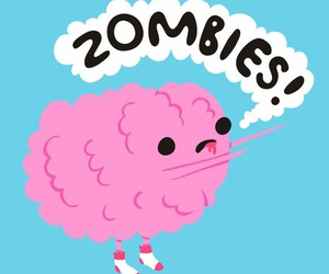 zombies, brain, and pink image
