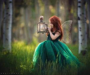 fairy, green, and child image