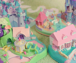 polly pocket, toys, and vintage image