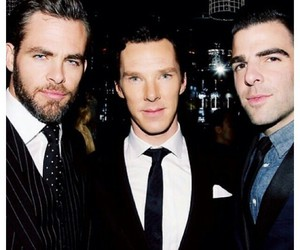 zachary quinto, benedict cumberbatch, and chris pine image