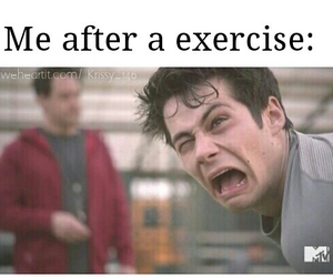 teen wolf, funny, and exercise image